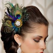 HOT!Wedding Hair Clip Pin ,BeautyVan Fashion Rhinestones Peacock Feather Bridal Wedding Hair Clip Pin Head Hairpin