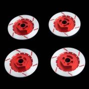 RC N10075 Red Alum Wheel Brake Disc 4P For 1:10 HSP HPI Sakura Drift Car