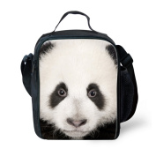 Showudesigns Insulated Printing Panda Compact Lunch Bag for School Student Girls