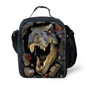 Showudesigns Unisex Printed Dinosaur Lunch Bag Meal Prep for Adults Teen Boys