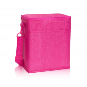 Thirty One Picnic Thermal Tote in Pink Crosshatch - 3034 - No Monogram