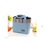 Bear Motion Insulated Lunch Bag - Washable Denim Zip Aluminium Film Pack Cooler Bag Lunch Box Bag Blue