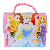 Disney Princess Metal Handbag Lunchbox Tin Carry-All with Beaded Handle