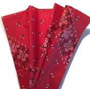 Printed Tissue Paper for Gift Wrapping with Design (Red Bandana), 24 Large Sheets