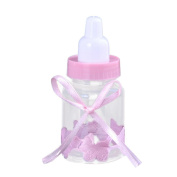 Voberry® 12PCS Candy Box Bottles Favours Party Decor Fillable Bottles For Baby Shower