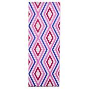 Diamond-patterned Raspberry/Purple/White Tissue Paper