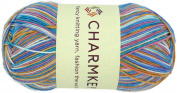 Charmkey Painted Sock Yarn Baby Soft Thin 2 Fine Colourful Prints Wool Ease Blended 5 Ply Superwash Acrylic Self Striping Thread for Stocking Glove Hat, 1 Skein, 100ml