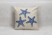 YFFS 4 Simple Style Three Starfish Linen Home Pillow Pillowcase,45*45cm