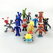 Mr Bigz Fnaf Five Nights at Freddy's Action Figures Toys Dolls (12 Piece), 10cm