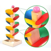 Wooden Tree Marble Run Track Games Preschool Children Kids Educational Toys
