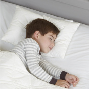 Baby Sleep Time My First Pillow - Toddle sleep pillow with 100% cotton unbleached organic, hypo-allergenic & machine washable; ideal for age 2 - 6, side and back sleeping