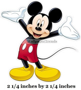 5.1cm SMALL MICKEY MOUSE Removable Decal Sticker Art Walt Disney Home Decor 5.1cm x 5.1cm tall