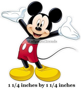 2.5cm TINY MICKEY MOUSE Removable Decal Sticker Art Walt Disney Home Decor 2.5cm x 2.5cm tall