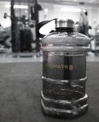 Premium Hydar 'Hex' Half Gallon Water Bottle - Large 2.3 Litres Capacity ★ LIFETIME GUARANTEE ★ One of the UK's Largest Portable Bulk Water Bottles - Dumbbell Shape Design - Solid Screw Cap - Hydar Hydrate Range - 100% Leak Free and BPA Free - Eco Frie ..