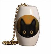 Peek A Boo Cat Porcelain Fan / Light Pull