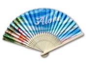 Aloha Hula Girl Personal Bamboo Fan