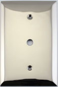 Jumbo Stamped Polished Nickel One Gang Wall Plate for Cable TV/Coaxial Cable