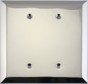 Jumbo Stamped Polished Nickel Two Gang Blank Wall Plate