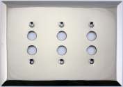 Jumbo Stamped Three Gang Push Button Light Switch Wall Plate