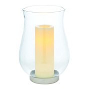 Candle Impressions CAT11859CL Clear Glass Urn with Programmable Timer, 7.5-by 11