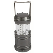 Demarkt Portable LED Lantern Outdoor Collapsible 30 LEDs Battery Powered Lantern for Home, Garden, Camping, Hiking Emergencies-Grey