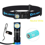Olight H1R Nova 600 Lumens Cree XM-L2 Cool White/ Neutral White Led Rechargeable & Cpmpact Headlamp Flashlight with 650mah RCR123A Battery