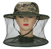 TININNA Camouflage Anti-mosquito Bug Insect Fly Mask Cap Hat with Head Net Mesh Camouflage Insect Head Net Beekeeper Hat #2