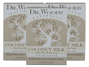 Dr. Woods Nourishing Coconut Milk Bar Soap with Vanilla Beans, Papaya, and Organic Shea Butter, 160ml