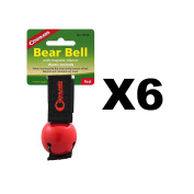 Coghlan's Bear Bell Red w/Magnetic Silencer & Loop Strap Warns Animals