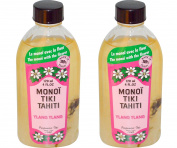 Monoi Tiki Tahiti Ylang Ylang Coconut Oil (Pack of 2), Scented With Fresh Handpicked Tiare Flowers, 100% Made in Tahiti, 120ml