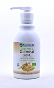 Natures Commonscents Natural Goats Milk & Oatmeal Body Wash Scrub With Vitamin E