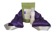 Victoria's Lavender Luxury NECK WRAP GIFT SET with LAVENDER BATH SALTS, LAVENDER LOTION Use for Stress Relief and Relaxation, Handmade in Oregon, USA