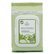 Symphony Beauty Makeup Cleansing Wipes Moisturise, Cucumber and Aloe Vera, 30 Count