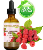 RED RASPBERRY SEED OIL REFINED PREMIUM QUALITY. 100 % Pure / Natural / Undiluted Cold Pressed Carrier oil. 4 Fl.oz.- 120 ml. For Skin, Hair, Lip and Nail Care.
