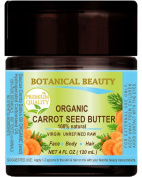 ORGANIC CARROT SEED OIL – BUTTER RAW. 100 % Natural / VIRGIN / UNREFINED. 4 Fl oz - 120 ml. For Skin, Hair, Lip and Nail Care.