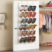 Crystal Clear Over The Door Shoe Organiser,24 Pockets Over The Door Shoe Organiser by HUELE