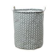 Singleluci Waterproof Canvas Sheets Laundry Basket Folding Clothes Storage Box