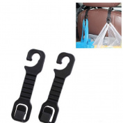 AOWA 2Pcs Solid Car Back Seat Headrest Hanger Holder Hooks For Bag Purse Cloth Grocer
