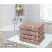 amazing value 4 x Egyptian cotton bath sheets - dark natural