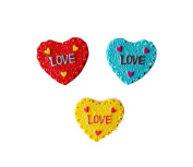 Set Of 3 Lovely Heart Shape Magnetic Buckle Refrigerator Stickers