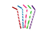 Kitchen Collection Set of 4 Silicone Straws Assorted Colours 09305