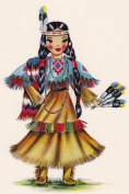 Counted Cross Stitch Pattern Chart Graph - International Doll Native American Indian