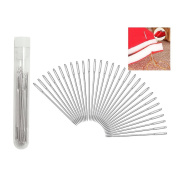 BronaGrand 30pcs 5.2 cm Large-eye Stitching Needles Hand Sewing Needles for Leather Projects with Clear Bottle