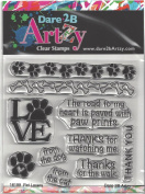 Dare 2B Artzy Pet Lovers Clear Cling Rubber Stamps