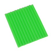 GlueSticksDirect Translucent Green Coloured Glue Sticks mini X 10cm 12 Sticks