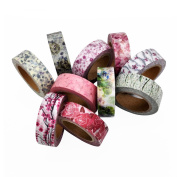 Poproo Washi Tape Set for Scrapbooking Supplies, DIY Crafts and Gift Wrapping, 10 rolls Floral Tape