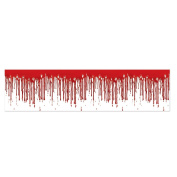 Club Pack of 12 Halloween Scary Dripping Blood Scene Party Decorating Streamers 7.6m
