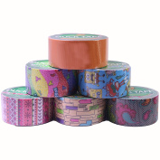 Duck Brand Duct Tape Set, Assorted Colours and Printed Patterns, 6 Rolls