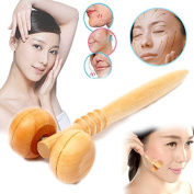 Wooden Ball Roller Health Massager Tool Reflexology Hand Face Body Therapy Relaxing by BinStore