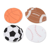 Set of 24 Large Sport Foam Shapes- Soccer, Basketball, Football, and Soccer